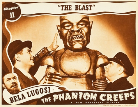 THE PHANTOM CREEPS (1939) lobby card. Bela Lugosi.