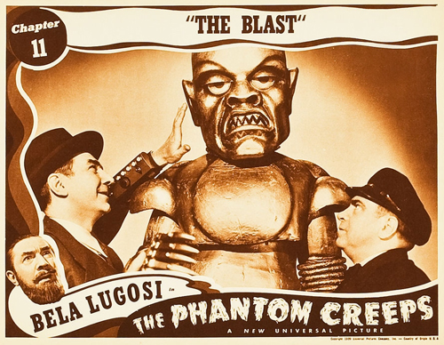 THE PHANTOM CREEPS (1939) lobby card. Bela Lugosi.