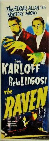 THE RAVEN (1935) Karloff Lugosi insert poster
