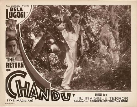 THE RETURN OF CHANDU (1934) lobby card Bela Lugosi.