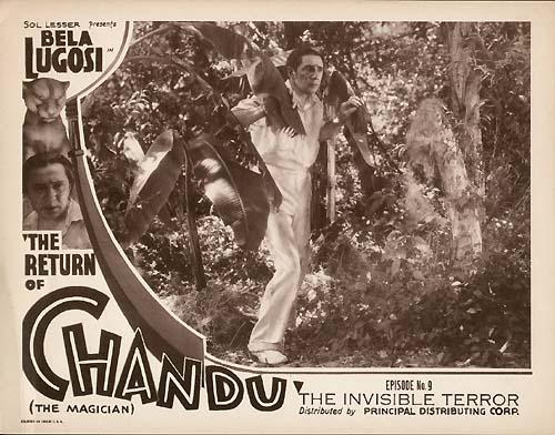 THE RETURN OF CHANDU (1934) lobby card Bela Lugosi.