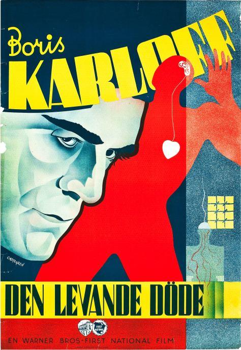 THE WALKING DEAD (1936 CURTIZ) BORIS KARLOFF.poster