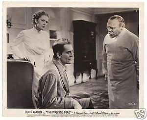 THE WALKING DEAD (1936 Curtiz) lobby card. Boris Karloff