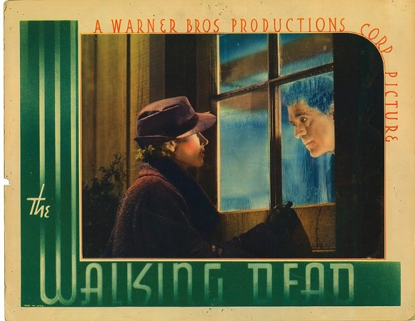 THE WALKING DEAD (1936 Curtiz) lobby card. Boris Karloff.