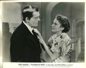 THE WALKING DEAD (1936) lobby card. Boris Karloff