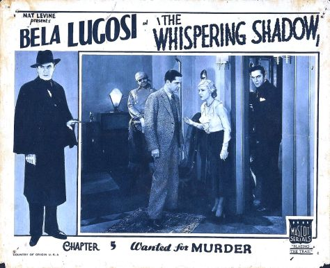 THE WHISPERING SHADOW (1933) lobby card. Bela Lugosi.