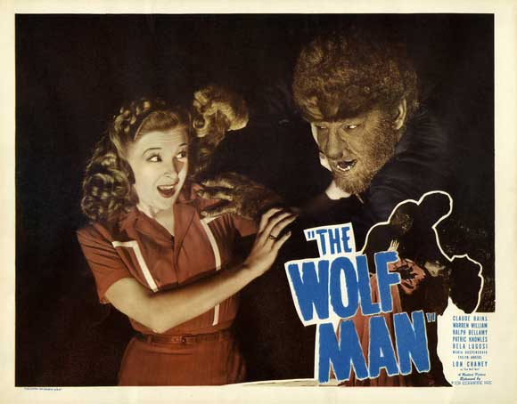 THE WOLFMAN 1941 lobby card. Evelyn Ankers, Lon Chaney, Jr.
