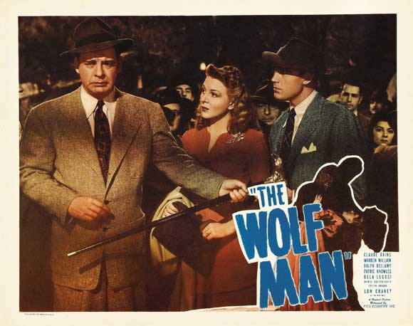 THE WOLFMAN 1941 lobby card. Lon Chaney, Jr. Evelyn Ankers, Patrick Knowles