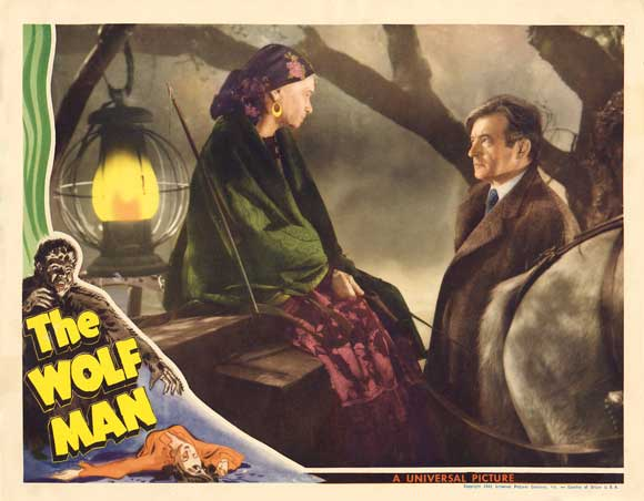 THE WOLFMAN 1941 lobby card. Maria Ouspenskia, Claude Rains.