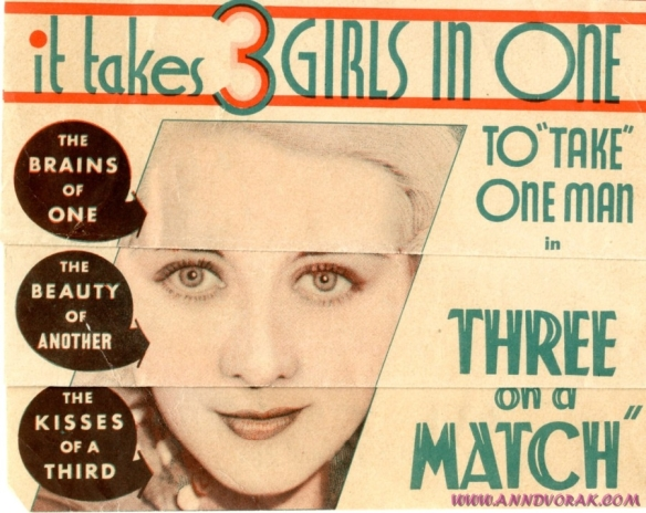 Three on a Match 1932