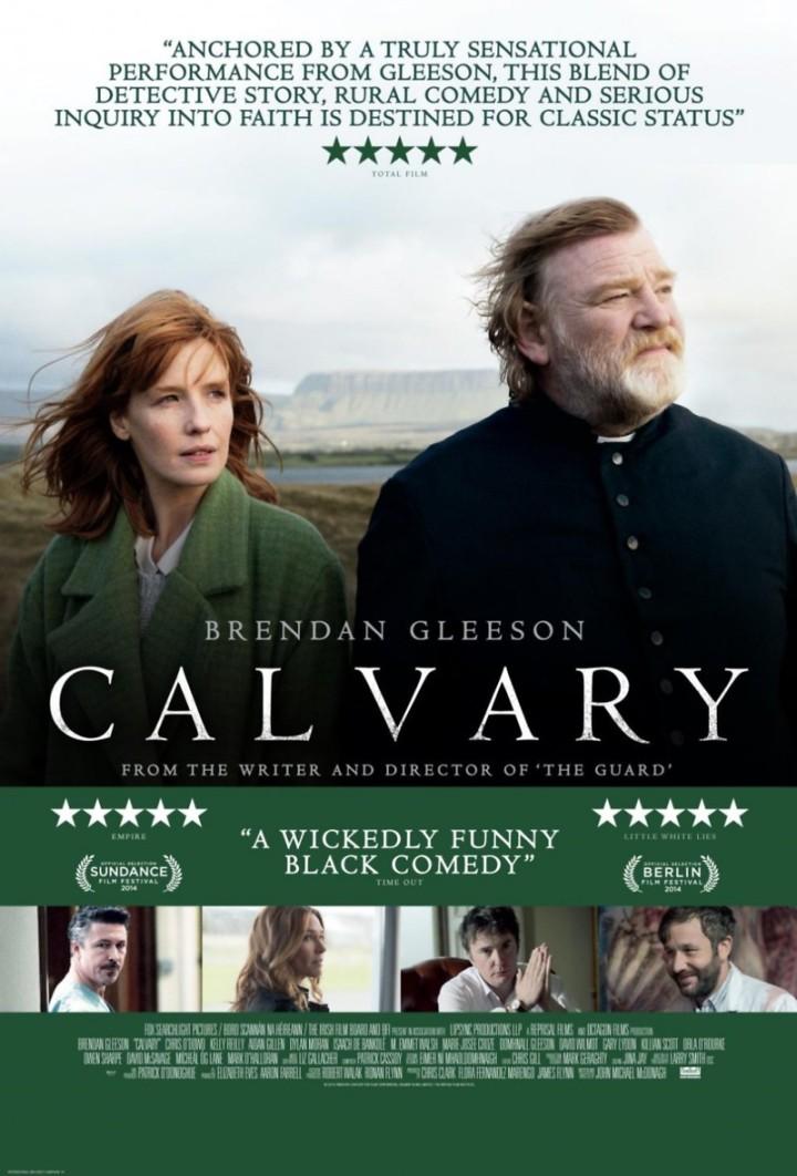 Calvary (2014 John Michael McDonagh) Brendan Gleeson. US theatrical release poster
