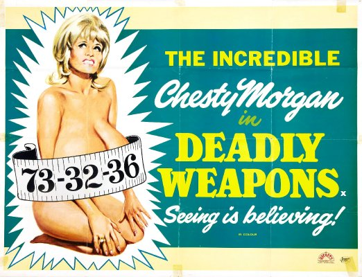 DEADLY WEAPONS (1974 Doris Wishman) Theatrical poster