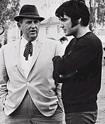Elvis Presely and Colonel Tom Parker