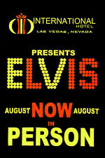 Elvis Presely International Hotel poster