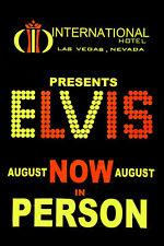 Elvis Presely International Hotel poster