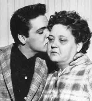 Elvis Presley and mother Gladys