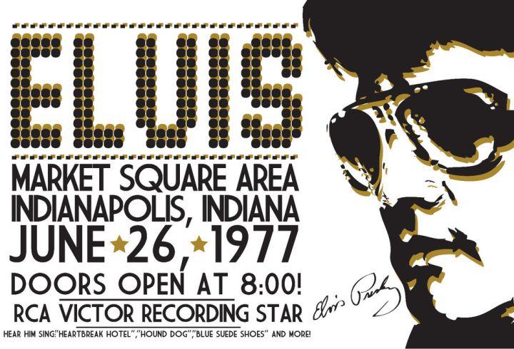 Elvis Presley Market Square Arena (last concert) 1977