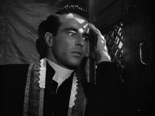 I Confess (1953 Alfred Hitchcock) Montgomery Clift.