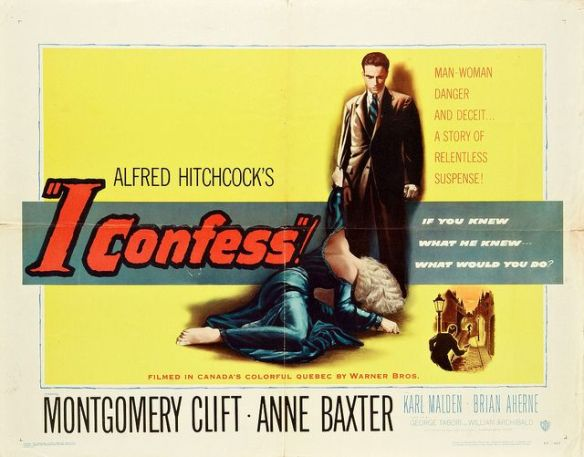 I Confess (1953 Alfred Hitchcock) theatrical poster