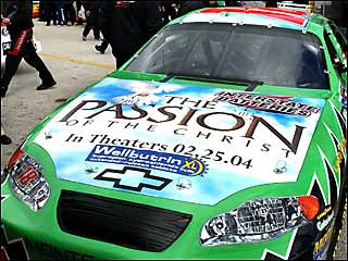 PASSION OF THE CHRIST MOBILE NASCAR