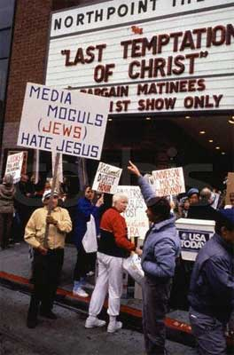 PICKETING THE LAST TEMPTATION OF CHRIST