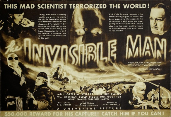 THE INVISIBLE MAN (1933 James Whale) advertisement