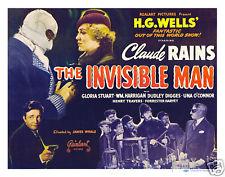 THE INVISIBLE MAN (1933 James Whale) lobby card. Claude Rains, Gloria Stuart