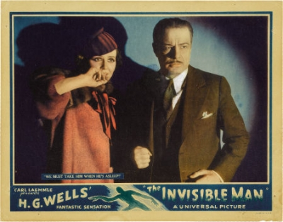 THE INVISIBLE MAN (1933 James Whale) LOBBY CARD. Gloria Stuart, William Harrigan
