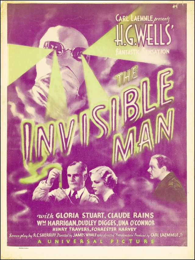 THE INVISIBLE MAN (1933 James Whale) window card