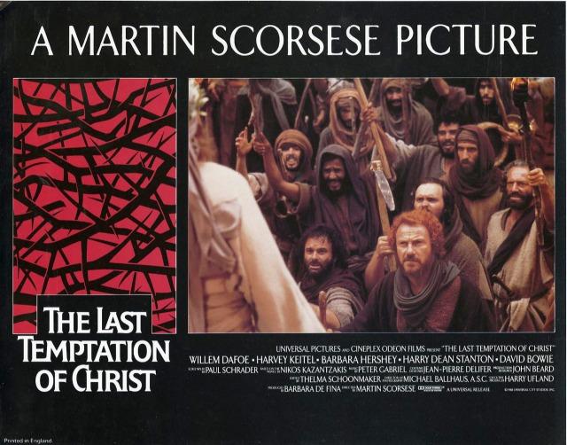THE LAST TEMPTATION OF CHRIST (1988) British lobby card
