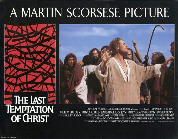 THE LAST TEMPTATION OF CHRIST (1988 Martin Scorsese) lobby card