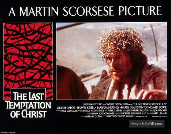 THE LAST TEMPTATION OF CHRIST (1988 Martin Scorsese)lobby card. Willem DaFoe