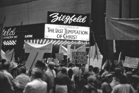 THE LAST TEMPTATION OF CHRIST (BEING PICKETED)