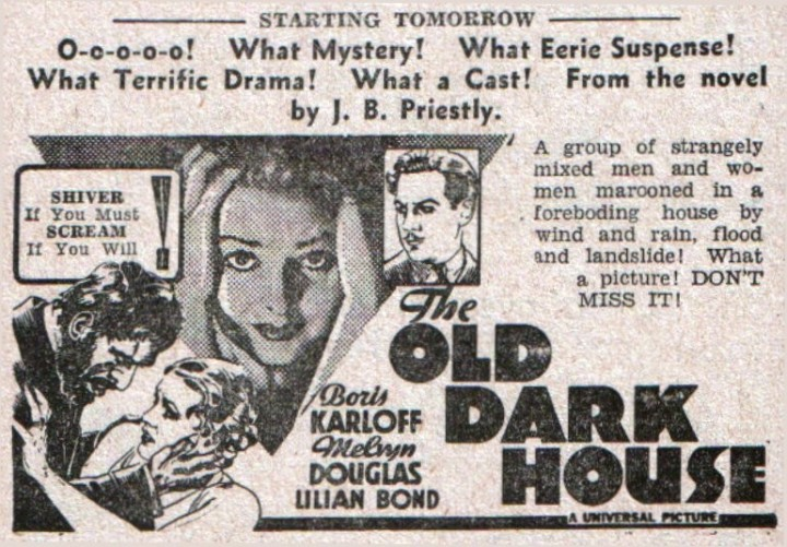 The Old Dark House (1932 James Whale) news promo