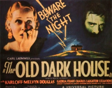 The Old Dark House (1932 James Whale) theatrical poster. Gloria Stuart, Boris karloff