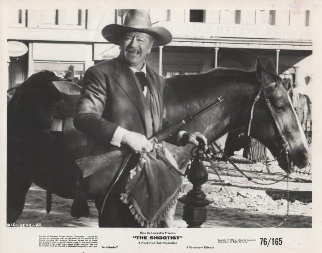 The Shootist (1976 Don Siegel) John Wayne. Lobby card.