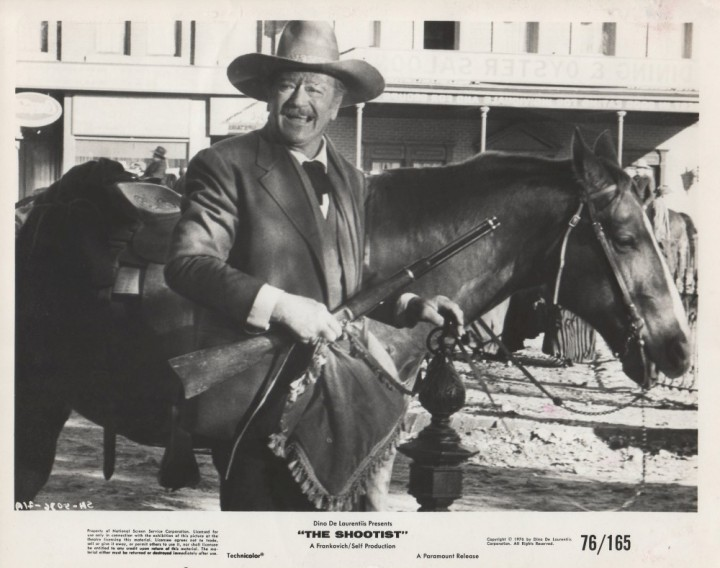 The Shootist (1976 Don Siegel) John Wayne. Lobby card.