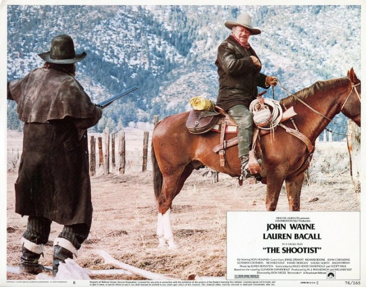 The Shootist (1976 Don Siegel) John Wayne. Lobby card
