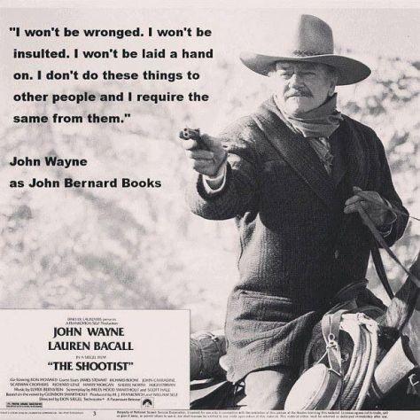 The Shootist (1976 Don Siegel) John Wayne. Movie poster