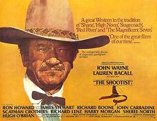 The Shootist (1976 Don Siegel) John Wayne. Theatrical Release poster