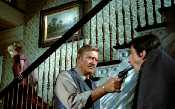 The Shootist (1976 Don Siegel) Lauren Bacall, John Wayne, Rick Lenz