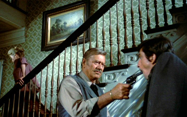 The Shootist (1976 Don Siegel) Lauren Bacall, John Wayne, Rick Lenz