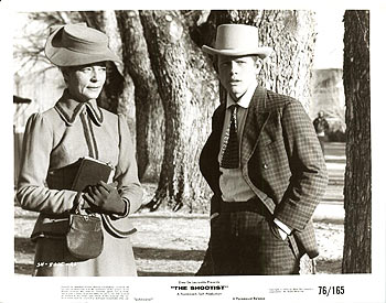 The Shootist (1976 Don Siegel) Lauren Bacall, Ron Howard. Lobby card
