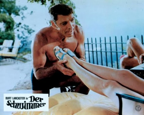 THE SWIMMER (1968 Frank Perry) Lobby card. Burt Lancaster