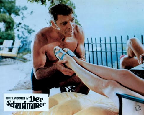 THE SWIMMER (1968 Frank Perry) Lobby card. Burt Lancaster