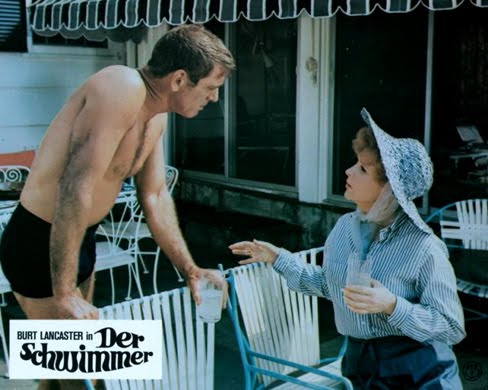 THE SWIMMER (1968) Lobby card. Burt Lancaster