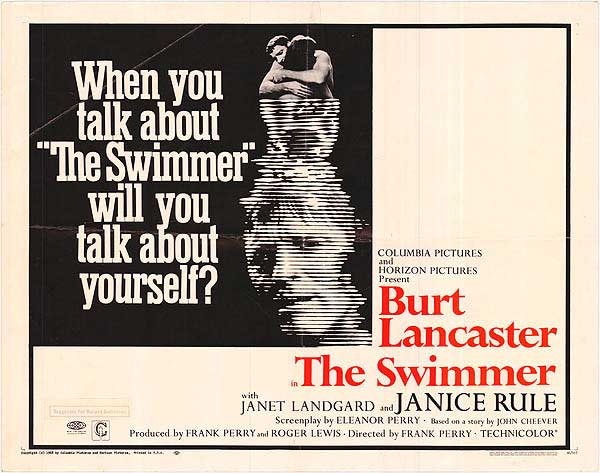 THE SWIMMER (1968) theatrical release poster