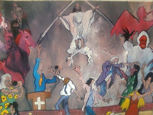 %22Apocalyptic Sermon%22oil on canvas©1998 Alfred Eaker