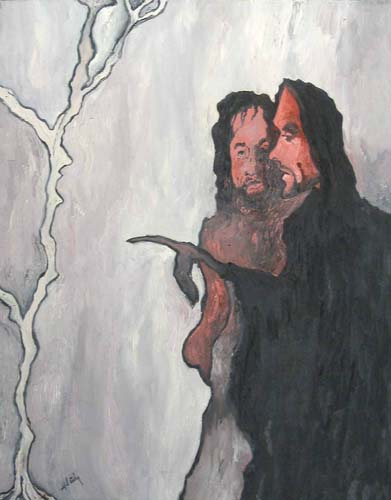 Christ Cursing the fig tree. oil on canvas©1997 Alfred Eaker