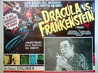 DRACULA VS. FRANKENSTEIN (1971 AL ADAMSON) LOBBY CARD